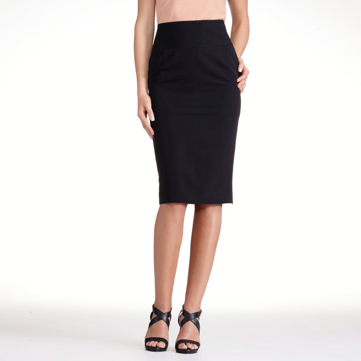 Amazing  Maternity Wear  Maternity Skirts  Microfiber Black Maternity Skirt
