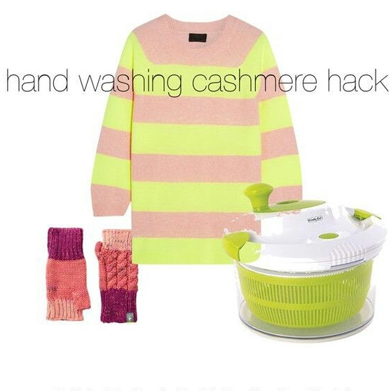 hand washing cashmere hack