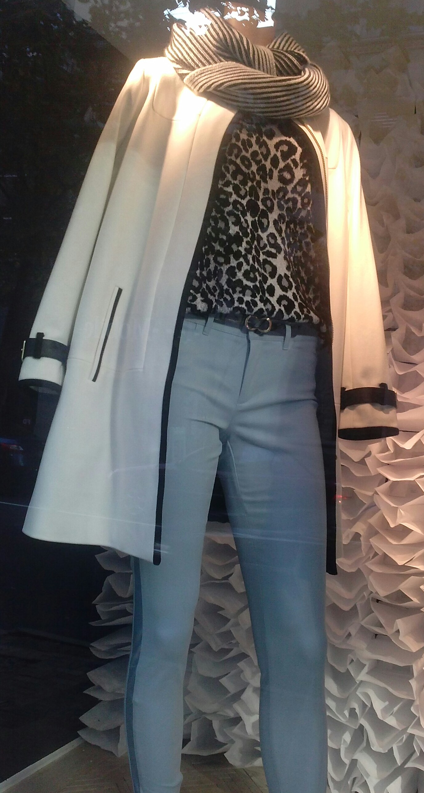 Tracey Evelyn Personal Shopper White Coat